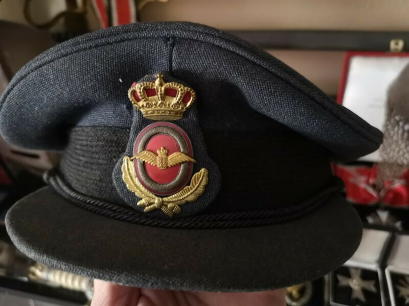 Very rare WW2 British, volunteer Danmark RCAF RAF Officers Peak Cap Crusher Hat