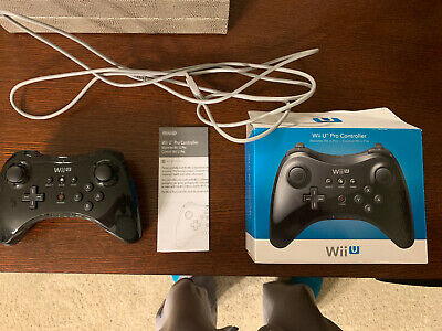 Official Nintendo Wii U Wireless Pro Controller With Charging Cable And Box