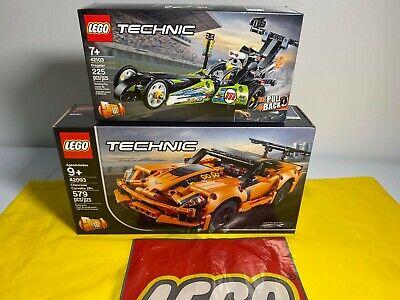 2 LEGO Technic Chevrolet Corvette ZR1 42093 & Dragster 42103 NEW SEALED