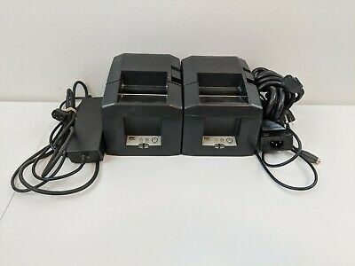 2x Star Micronics Tsp650 Pos Thermal Receipt Printer With Power Supply Tested