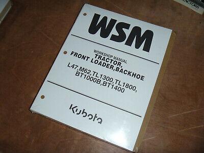 Kubota Bt1400 Tractor Front Loader Backhoe Shop Service Repair Manual