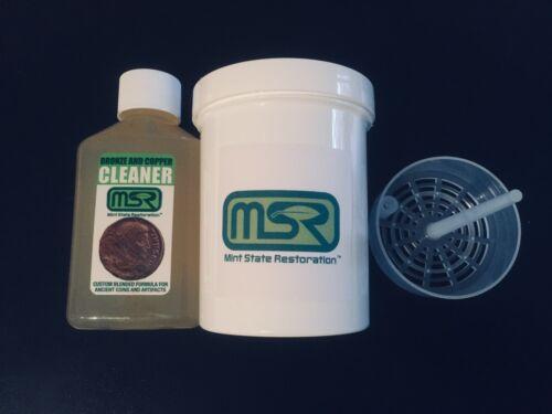 4 oz. Mint State Restoration w BASKET > Coin & Artifact Ancient Bronze Cleaner