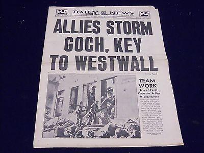 1945 February 19 New York Daily News   Allies Storm Goch   Np 1999