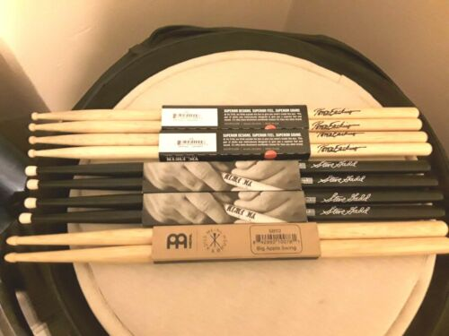 **USED*** VIC FIRTH & MEINIL DRUMSTICKS  5 PAIRS IN TOTAL