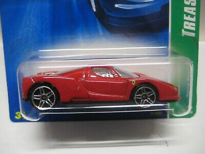 HOT WHEELS MINT ON CARD 2007 TREASURE HUNT SERIES ENZO FERRARI W/ RED INTERIOR