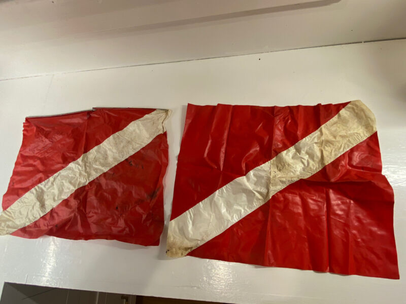 "Vintage 1960's 18"" X 14"" Plastic Nautical Maritime Diving Signal Ship Boat Flag"