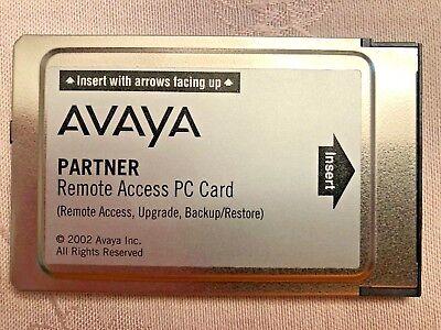 Avaya Partner Acs 12g4 Pc Card Remote Access Backup Restore 700252455