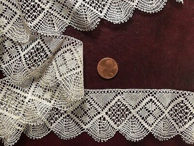 Vintage fine handmade Torchon bobbin lace fancy fills SEW CRAFT COLLECT