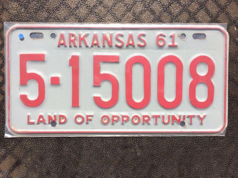1961 ARKANSAS LICENSE PLATE 5 15008