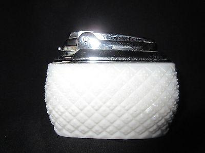 Westmoreland? Fenton? English Hobnail Milk Glass Cigarette Lighter Excellent