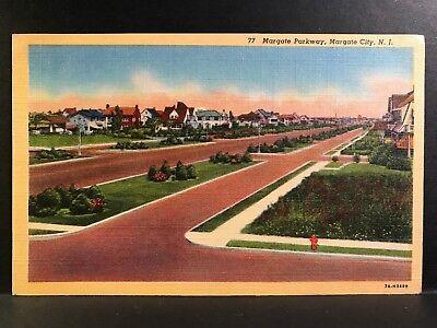 Postcard Margate City NJ - Margate Parkway Neighborhood - Atlantic City