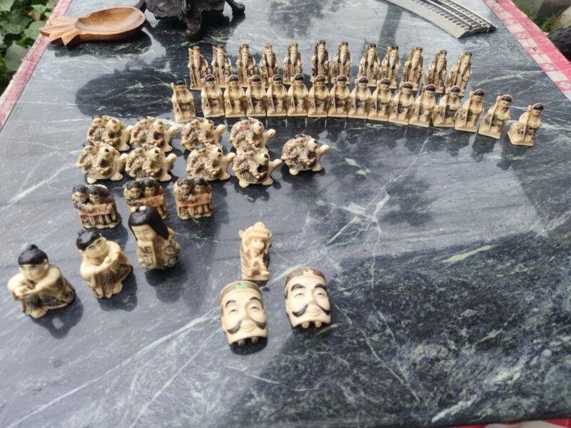 Lot of 46 Epoxy Resin Netsuke Figurine China /Japan .