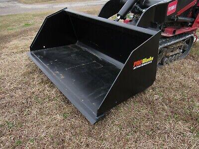 Toro Dingo Mini Skid Steer Attachment 48 Smooth Mulch Litter Bucket - Ship 179