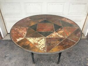 Outdoor mosaic bistro table