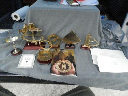 Vintage Franklin Mint Nautical Brass Instruments Sextant,Sundial Level Estate Fi