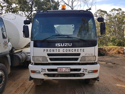 Concrete truck with or without work