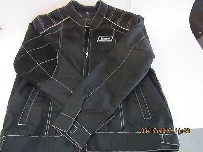 Kart Racewear Racing Jacket - Black with Right Arm Heat Safety Sleeve (Med-XXL)