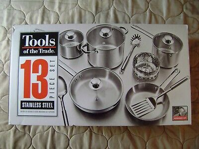 Tools of the Trade 13 Piece Stainless Steel Cookware