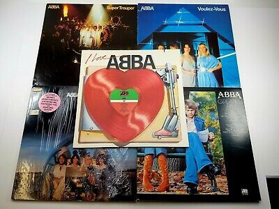 "ABBA VINYL RECORD LOT OF 5! 12"" LPs"