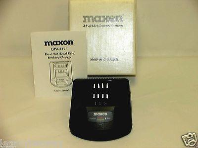 Maxon QPA-1125 Dual Slot / Dual Rate Desktop Smart Charger NEW Pocket Only Dual-slot Desktop Charger