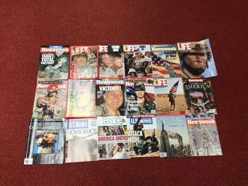 18 Lot of 9/11 Commemorative Magazines