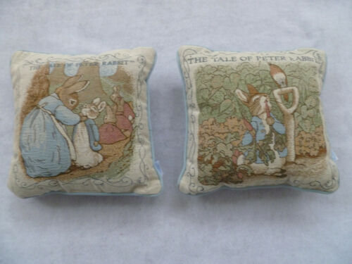 Frederick Warne Beatrix Potter Peter Rabbit Pillows Bundle of 2 *Used*