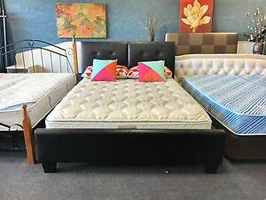 DELIVERY TODAY BEAUTIFUL COMFORTABLE LEATHER Queen bed & mattress Belmont Belmont Area Preview