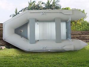 New-1-2mm-PVC-10-5-Inflatable-Boat-Tender-Raft-Dinghy-With-Floor-Gray