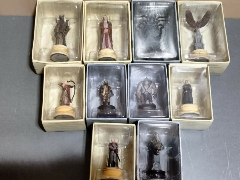 Set Of 10 Eaglemoss Lord of the Rings Chess Collection LOTR statue figurine