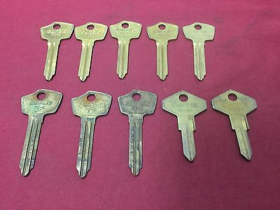Renault Rn25 Fc5 Fc6 Automotive Key Blanks Set Of 10 -locksmith
