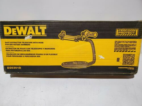 Photo DEWALT DUST EXTRACTOR TELESCOPE WITH HOSE #D25301D - NEW IN BOX