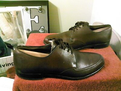 Vintage E.T. Wright Moc Toe Dress Shoes Brown Leather Sz 9.5C Made In USA NICE!