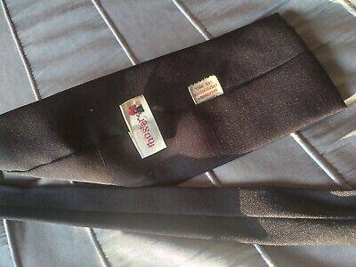 1960s – 70s Men's Ties | Skinny Ties, Slim Ties VINTAGE ROOSTER 1960s SQUARE END TIE CHOCOLATE BROWN GABARDINE 85% POLY 15% WOOL $7.50 AT vintagedancer.com