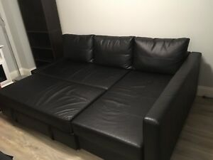 FAUX LEATHER CORNER SOFA WITH STORAGE!