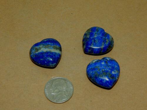 Lapis Lazuli Hearts 25x10mm set of 3 (14813)