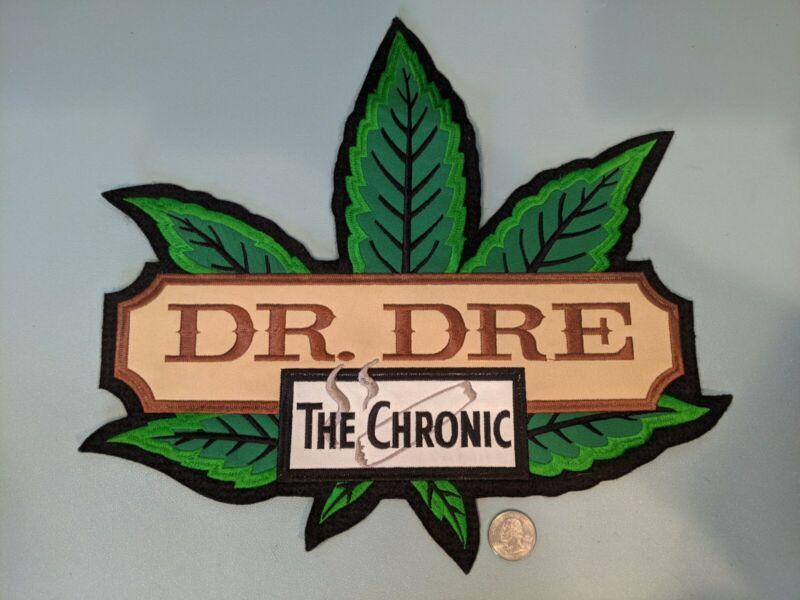Dr. Dre The Chronic Embroidered Patch HUGE! Promotional Vintage Rap Memorabilia