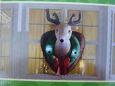 CHRISTMAS Deer Head  AIRBLOWN INFLATABLE  yard - Inflatable Deer Head