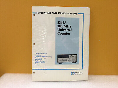 Hp Agilent 05316-90001 5316a Universal Counter Operating Service Manual. New