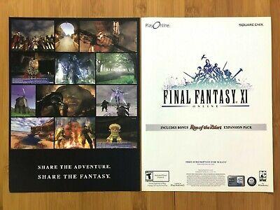 Final Fantasy XI 11 PC PS2 2003 Vintage Print Ad/Poster Official Promo Art Rare
