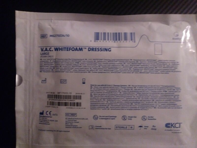 KCI  WHITEFOAM / WOUND DRESSING / Large / Vac Therapy / lot of 5 / M6275034
