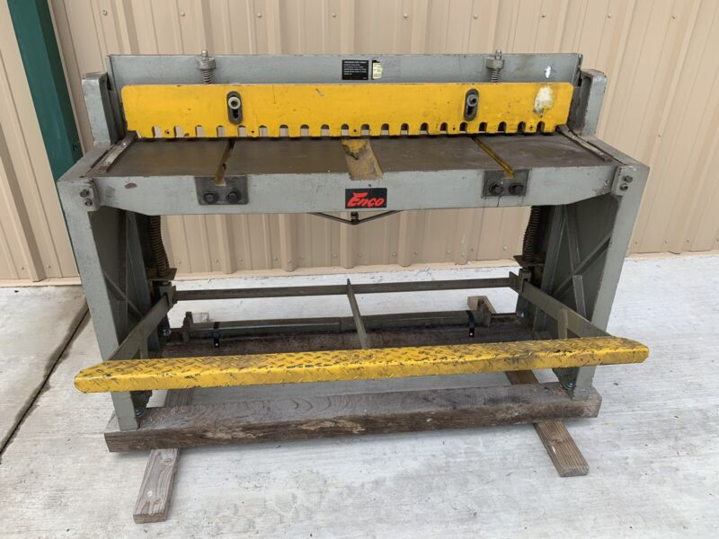 48 Inch Enco Foot Stomp Sheet Metal Shear 16 Gage Capacity Mild Steel