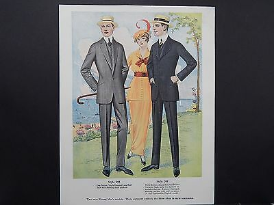 Men's Fashion, Suits, Clothing, 1920's Catalog, One Page, S1#01
