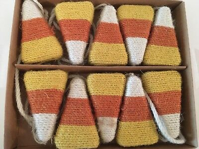 LARGE TWINE CANDY CORN HARVEST HALLOWEEN 6FT GARLAND RUSTIC COUNTRY FARMHOUSE