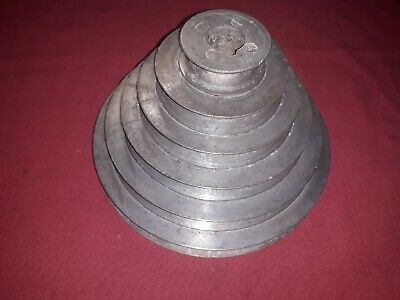 6 Step Pulley 2 3 14 4 14 5 12 6 12 And 7 12 Inch Dia.