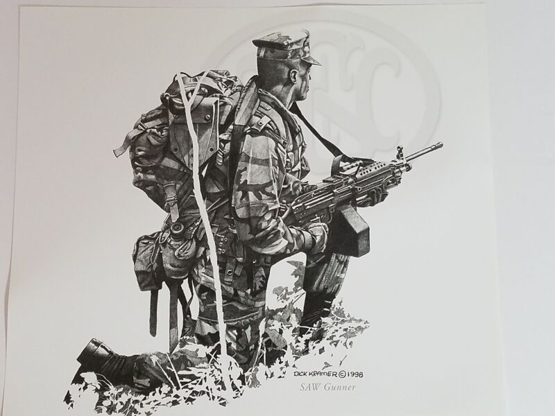 Dick Kramer Print Law Enforcement Military SAW GUNNER For FN Herstal 1998