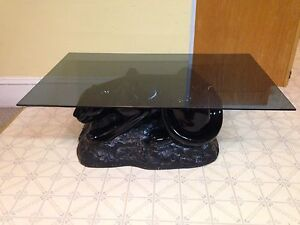 """Super Cool Black Panther Coffee Table, 40.5"""" x 25.5"""""""