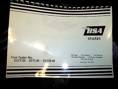 BSA C15T TRIALS  & SCRAMBLES PARTS BOOK MANUAL 1963 ONWARDS 00-5120 - BP82