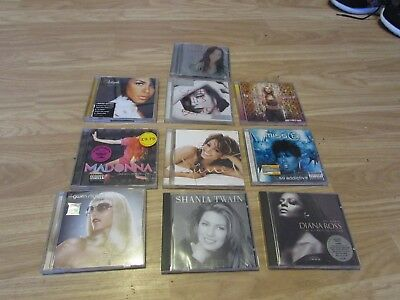 Used, 10 MUSIC CD ALBUMS INCL CHER/MADONNA/AALIYAH/BRITNEY/DIANA ROSS/JANET JACKSON for sale  Shipping to United States