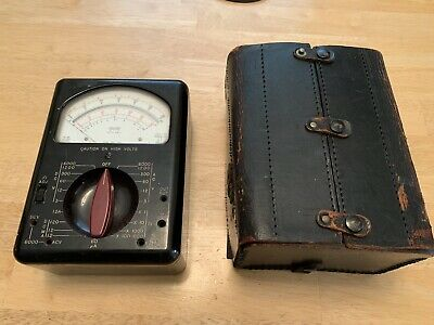 Vintage Triplett Model 630-a Multimeter With Damaged Case As Pictured
