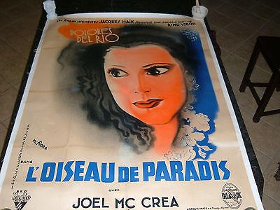 "BIRD OF PARADISE Original 1932 Movie Poster, 46""x62.5"", Linen, C8 Very Fine"